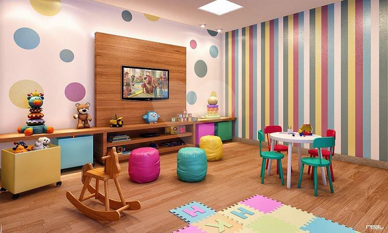 Sala De Tv E Brinquedoteca ~ Lançamento Residencial Aquarela Apartamento Jardim Camburi, 67 m² a