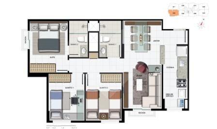 Residencial Metropolitan de 2 a 3 dormitórios em Samambaia Sul (Samambaia), Samambaia - DF