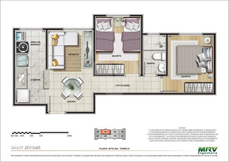 Apartamento de 2 dormitórios em Jardim Ângela (Zona Leste), São Paulo - SP