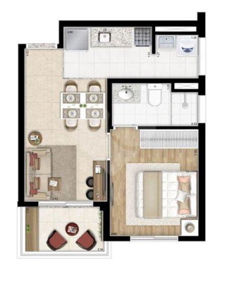 Apartamento de 1 dormitório à venda em Santa Efigênia, São Paulo - SP
