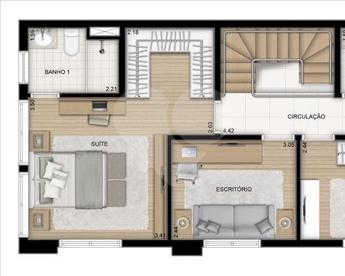 Planta Duplex - Pavimento Superior - 193 m²
