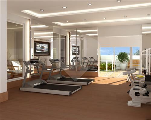 Local para prática de exercícios físicos. Sinônimos: Fitness; Sala de ginástica.
